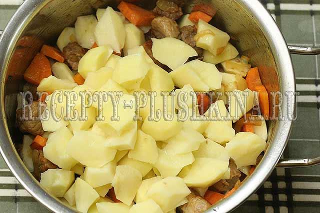 как приготовить тушеную картошку с мясом в кастрюле