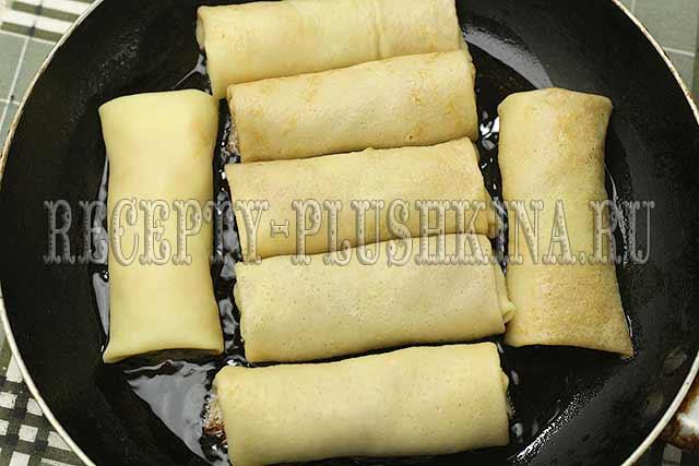 блинчики с мясом рецепт с фото пошагово