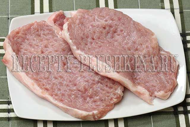 отбили мясо молоточком