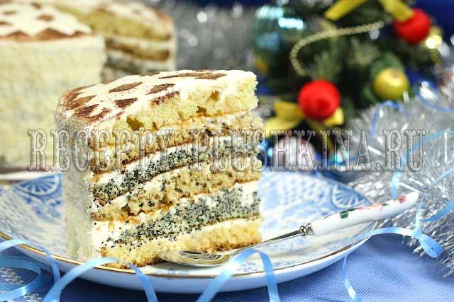 торт снежинка нежный пушистый тающий во рту