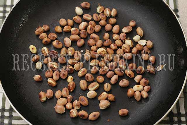 обжарили арахис