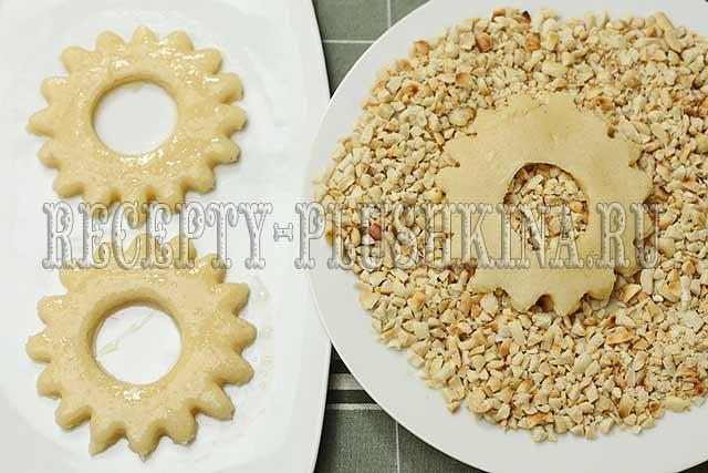 песочное кольцо с орехами рецепт
