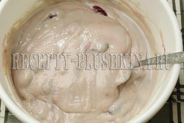 рецепт пирога с замороженной вишней