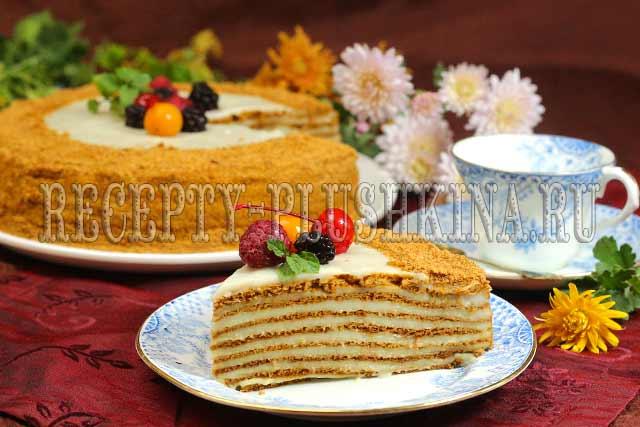 торт медовик с заварным кремом рецепт