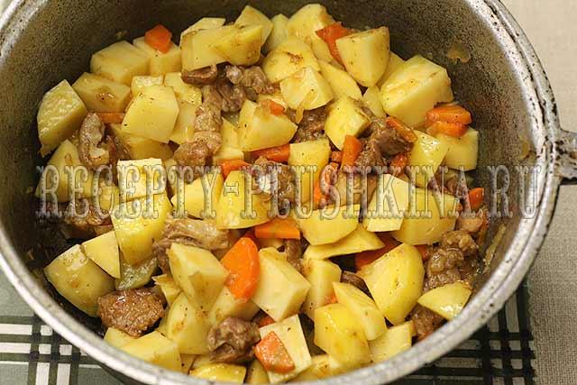 рецепт жаркое со свининой и картошкой