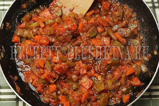 обжарили овощи для азу