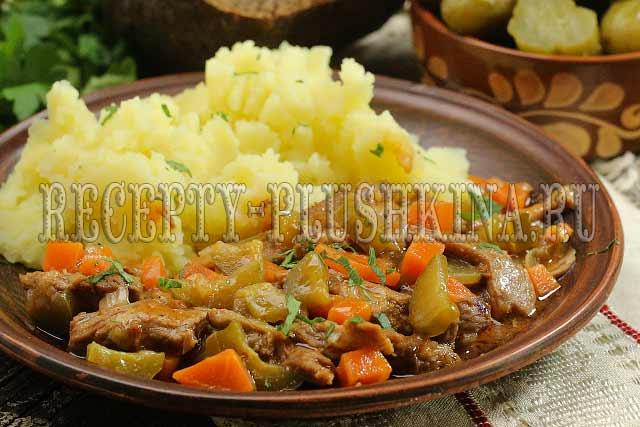азу по-татарски с солеными огурцами рецепт