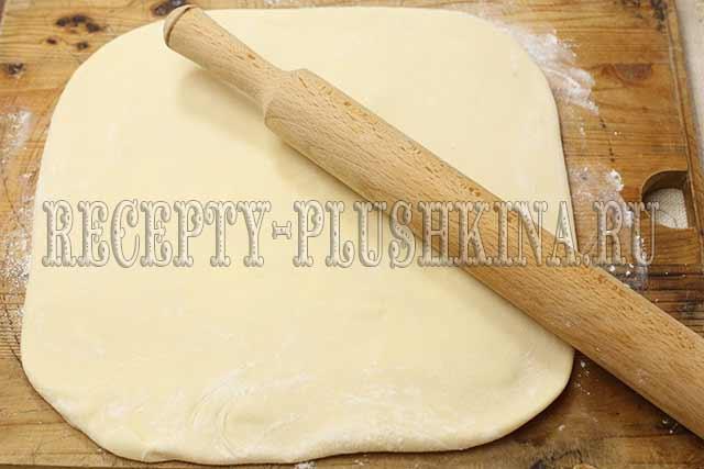 приготовление торта наполеон из слоеного теста