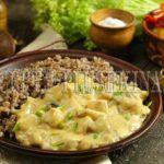 курица с грибами в сметанном соусе рецепт
