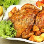 курица в духовке целиком
