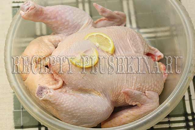 простой рецепт курицы в духовке целиком с фото