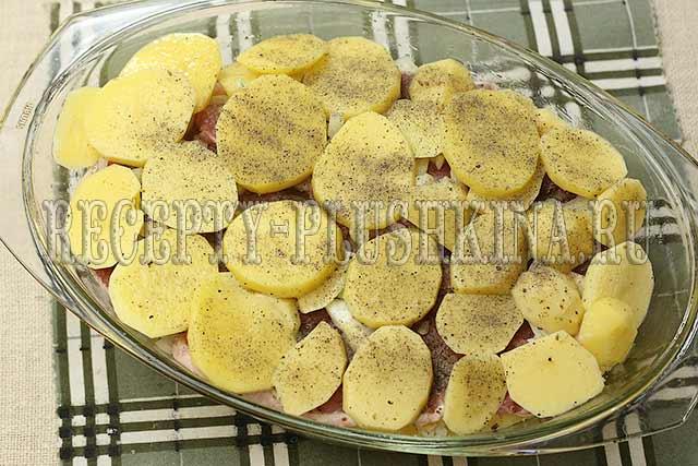 рецепт мясо по-французски с картошкой