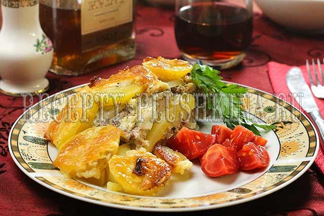 мясо по-французски с картошкой