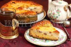 Пирог с творогом из дрожжевого теста
