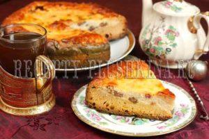 пирог с творогом из дрожжевого теста в духовке