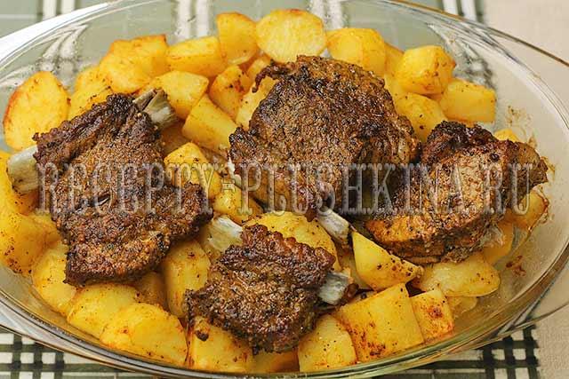 ребрышки с картошкой в духовке рецепт