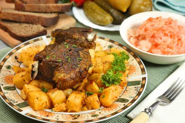 ребрышки в духовке с картошкой