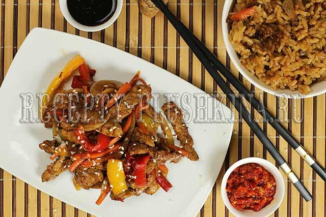 свинина в кисло-сладком соусе китайская кухня