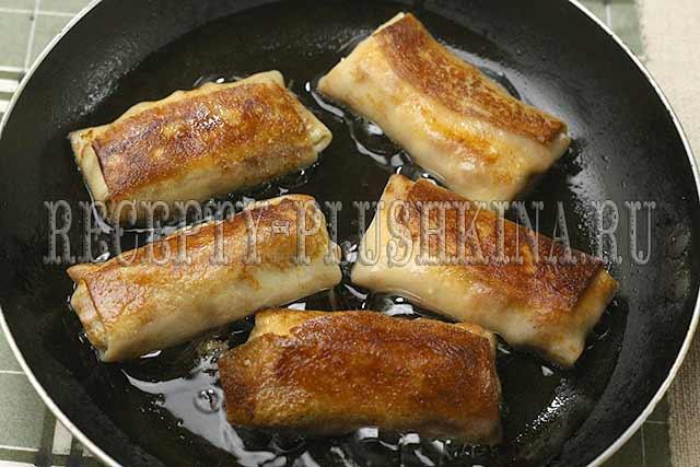 рецепт блинов с ветчиной и сыром