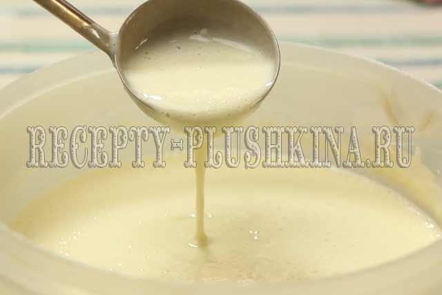 тесто для блинов на кислом молоке