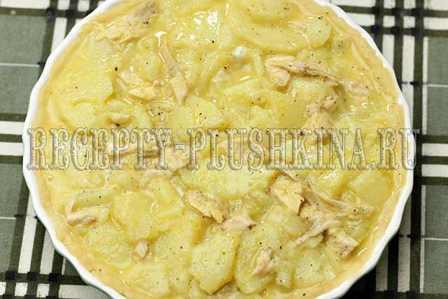 рецепт пирога с курицей и картошкой