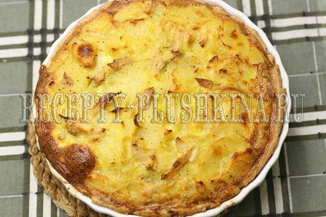 пирог с курицей и картошкой рецепт с духовке