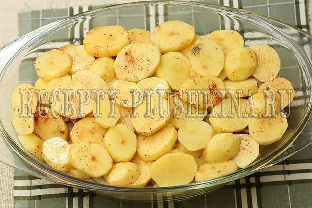 картошка со свининой в духовке
