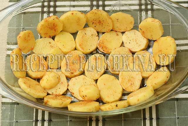 картошка со свининой в духовке фото рецепт