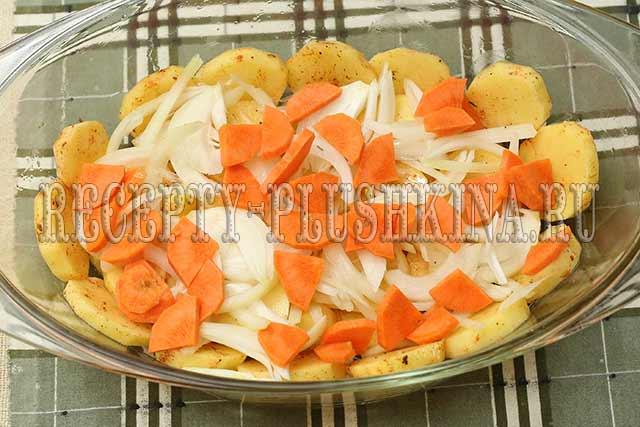 свинина с картошкой в духовке рецепт пошагово