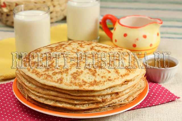 блины на молоке и дрожжах рецепт толстые пышные рецепт