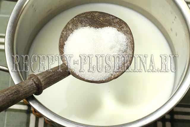 кефир, сахар, соль