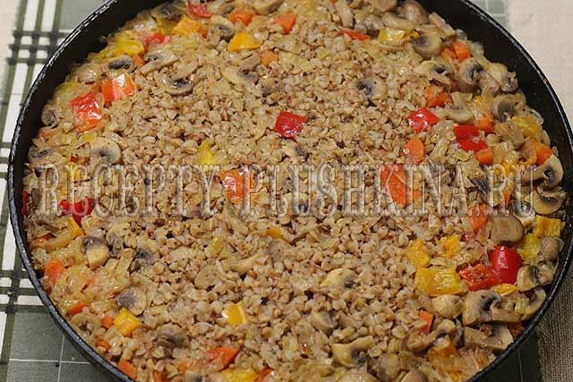 рецепт гречки с грибами, луком и морковью