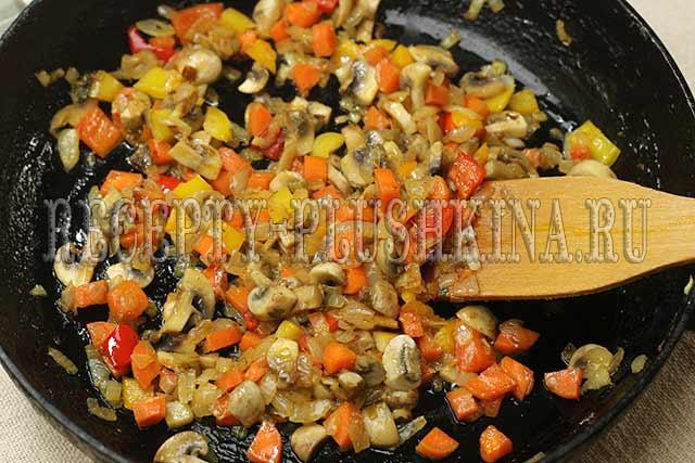 как приготовить гречку с грибами, луком и морковью