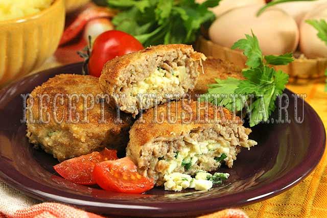 мясные зразы с яйцом рецепт