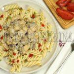паста с курицей и грибами в сливочном соусе рецепт