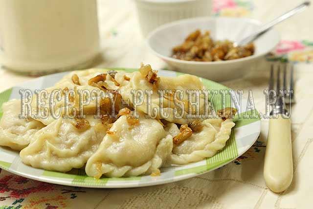 вареники с картошкой и грибами постные