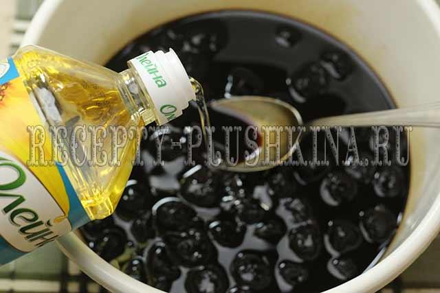 добавили растительное масло