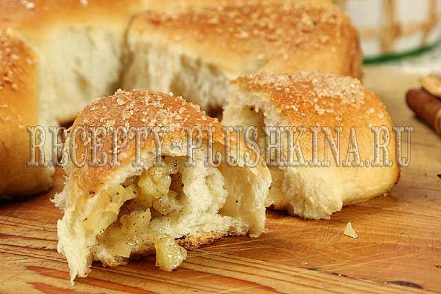 постный пирог с яблоками, 2- постный дрожжевой пирог с яблоками