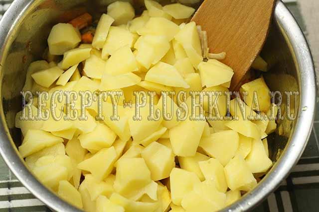 рецепт тушеной картошки с грибами