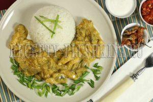 курица в сливочном соусе с грибами рецепт