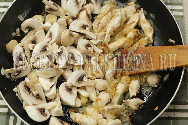 добавили грибы