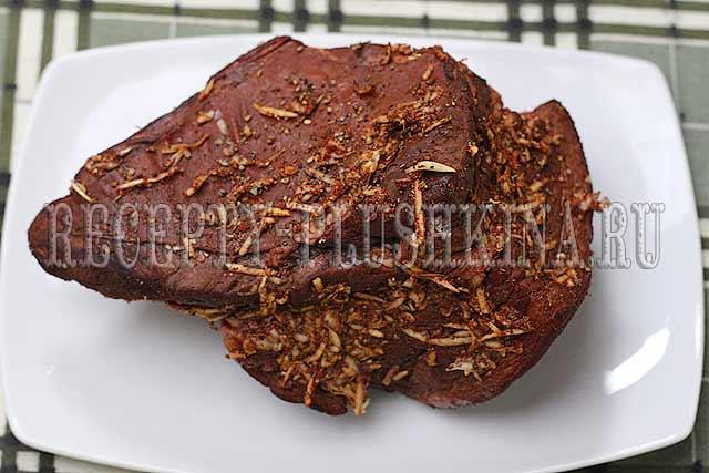 рецепт грудинки в луковой шелухе