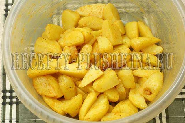 картошка со специями