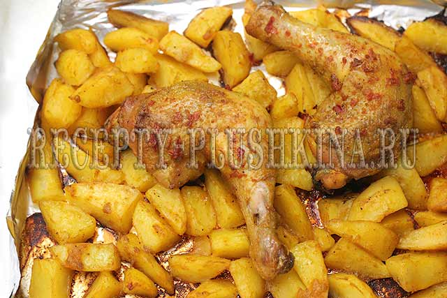 куриные голени с картофелем в духовке