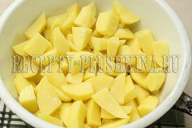 отвариваем картофель на пару