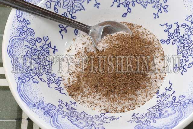 смешиваем сахар с корицей