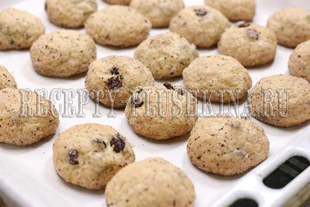 печенье с изюмом рецепт с фото
