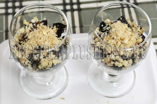 рецепт салата чернослив курица грецкие орехи