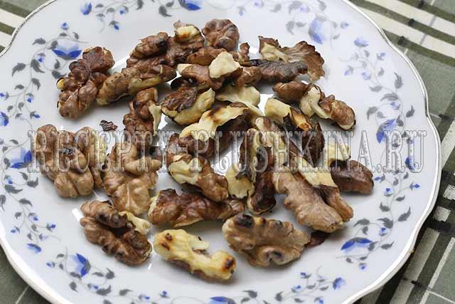 подсушили грецкие орехи