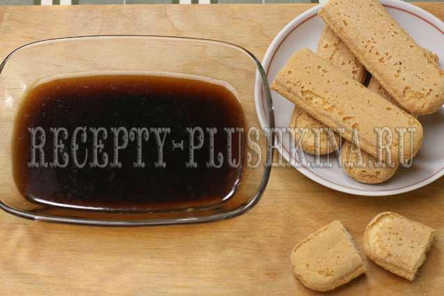кофе, печенье савоярди для тирамису